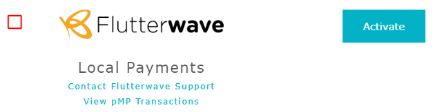 activate flutterwave module on paymypage