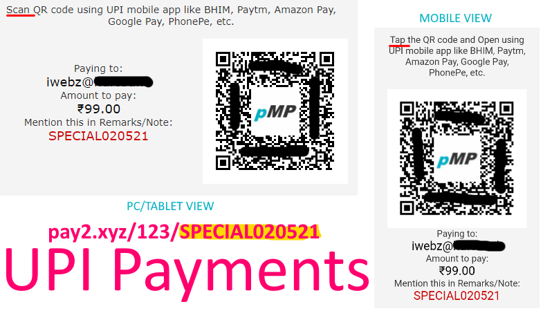 pMP UPI Payments